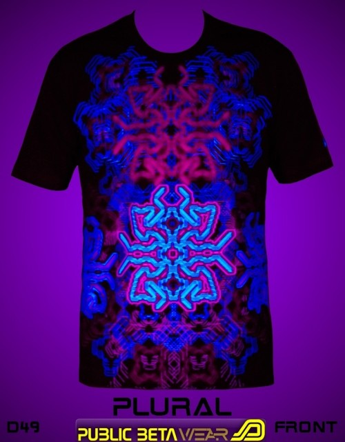 Plural UV D49 - Psychedelic T-Shirt by Public Beta Wear