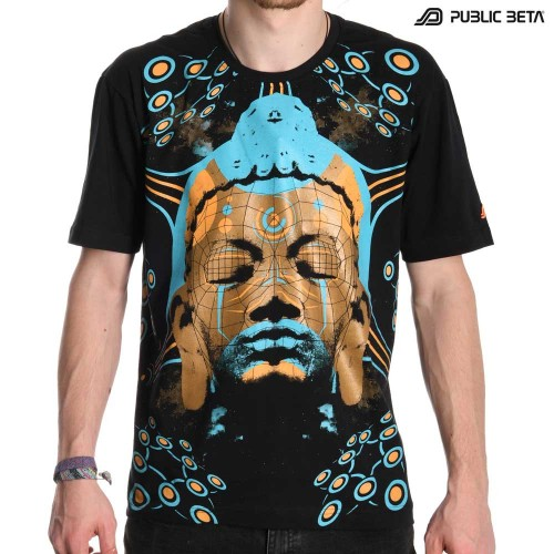 UV Active Psytrance T-Shirt / Quantumkarma UV D57