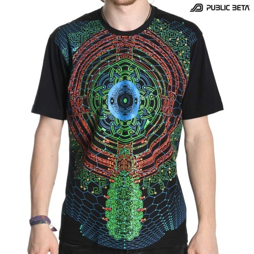 Glow in Blacklight Psywear /Vibe UV D60 T-Shirt