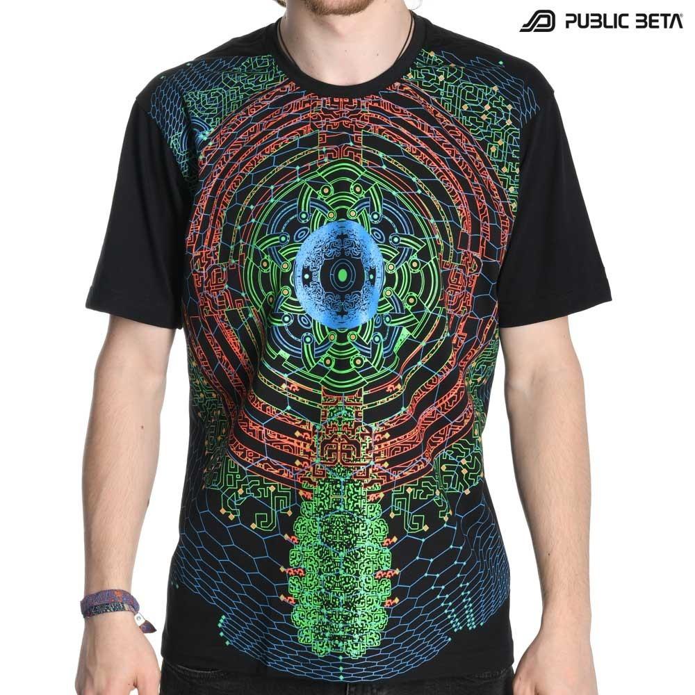 Glow in Blacklight Psywear /Vibe UV D60 T-Shirt