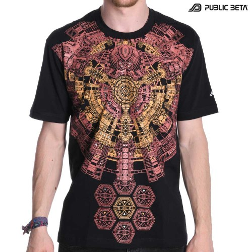 Psywear /Cydonia UV D73 / Psychedelic Glow in Blacklight T-Shirt