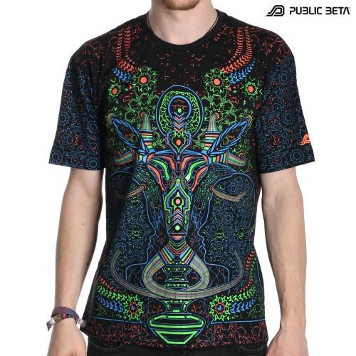 Psywear Blacklight T-Shirt / Brain Challenger UV D67 T-Shirt