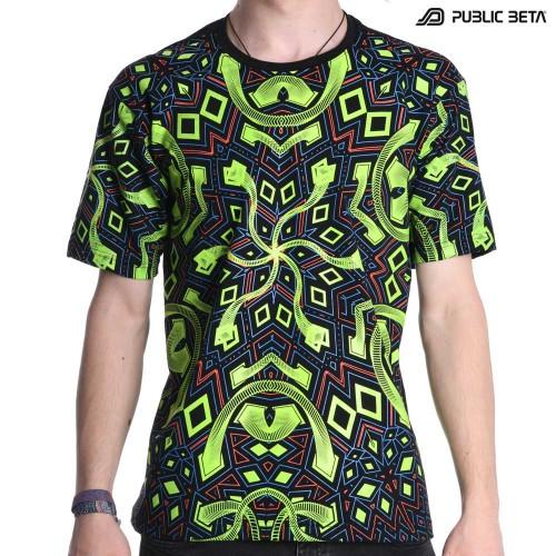 Psychedelic UV T-shirt / Rhombus UV D104