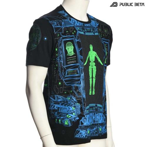 Psychedelic UV Active T-shirt / Full Print / Replikator UV D116