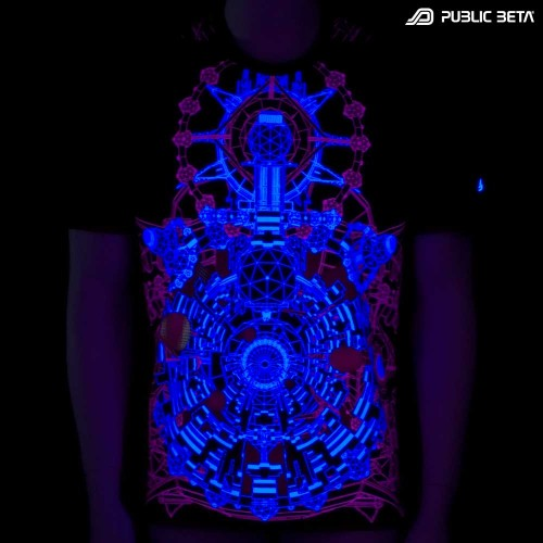 UV Active Psychedelic T-Shirt / Portal of Perception UV D68