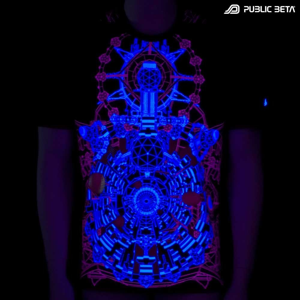 UV Active Psychedelic T-Shirt / Portal of Perception UV D68