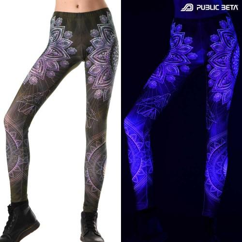 Singular UV D131 Neon Glow Psychedelic Leggings