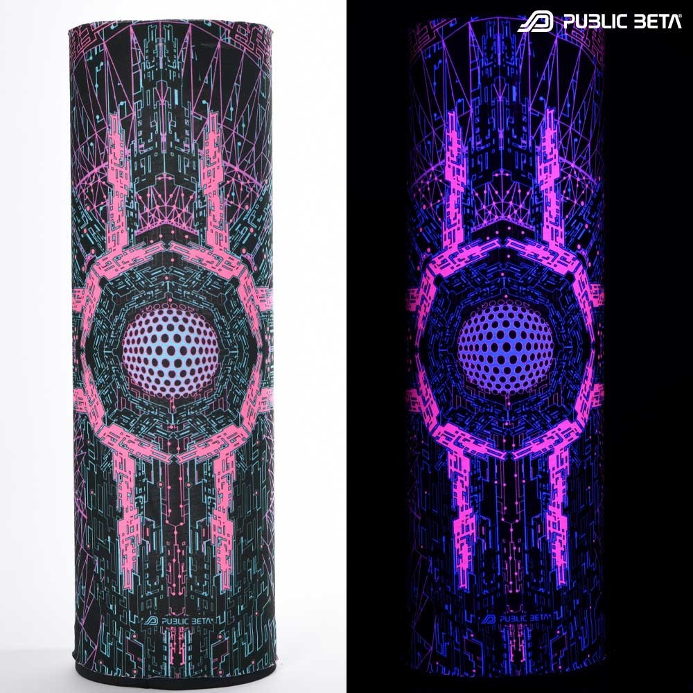 Tube Bandana / UV Active  Print /Cyberdrome UV D34