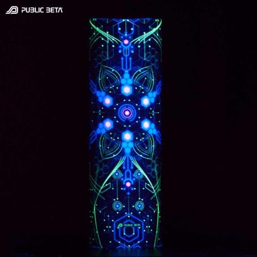 Glow in Blacklight Tube Bandana