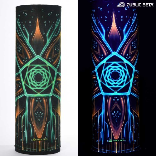 Face Mask / Glow in Blacklight Tube Bandana /Multiverse D111