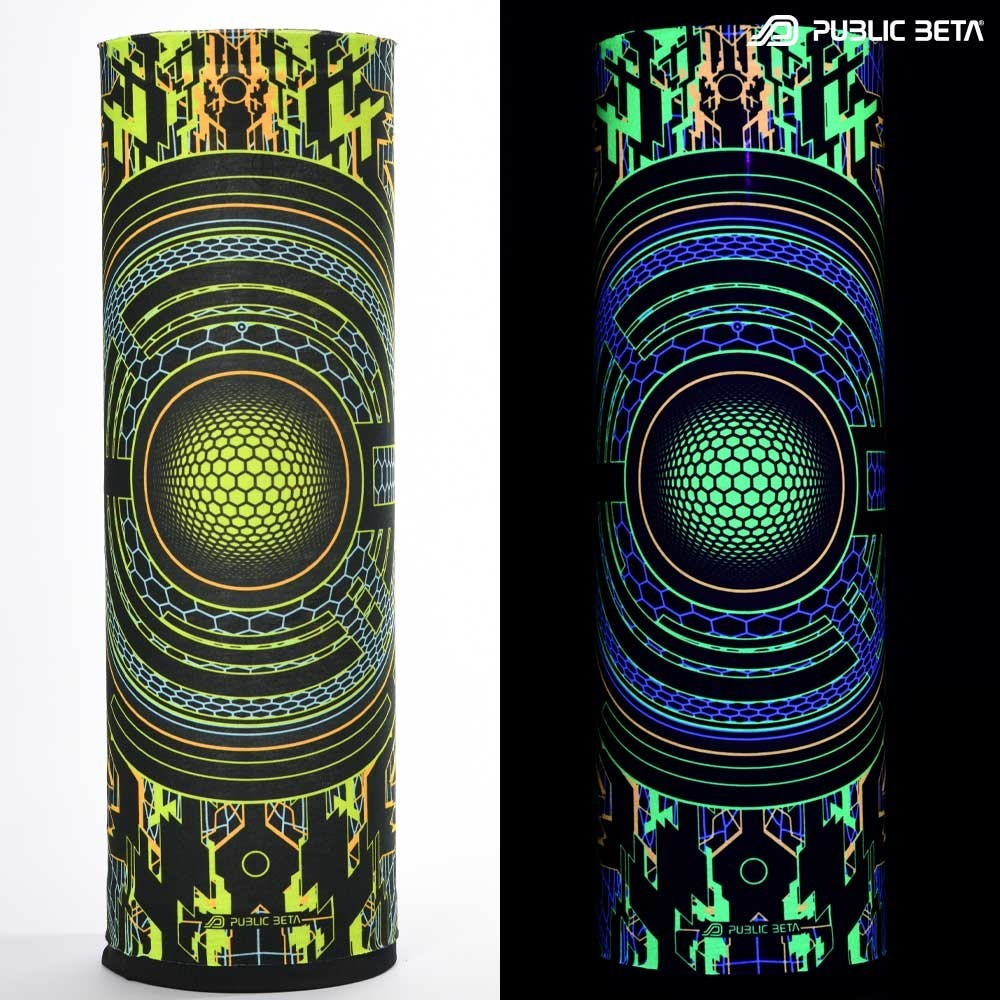 Glow in Blacklight Tube Bandana / Face Mask / Trancemitter D48