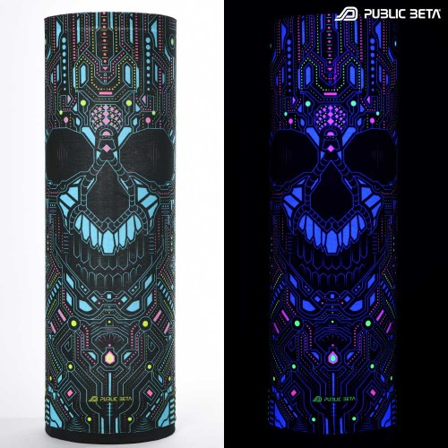 Psyclothing. UV Active Psy Art Printed Tube Bandana.