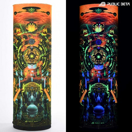 Psyclothing. Futuristic Hightech Visions on Clothing. Glow in Blacklight Art Prints.