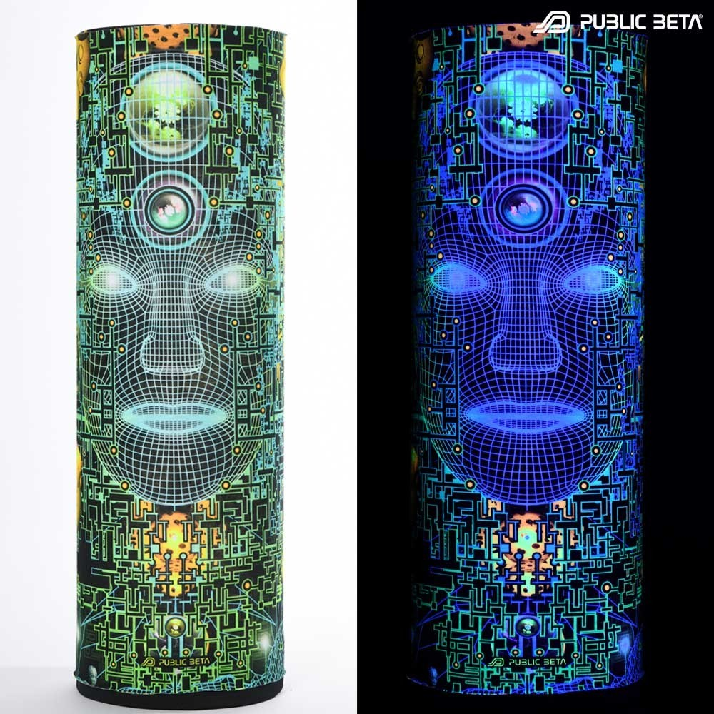 Glow in Blacklight Tube Bandana / Face Mask / Innerverse D138