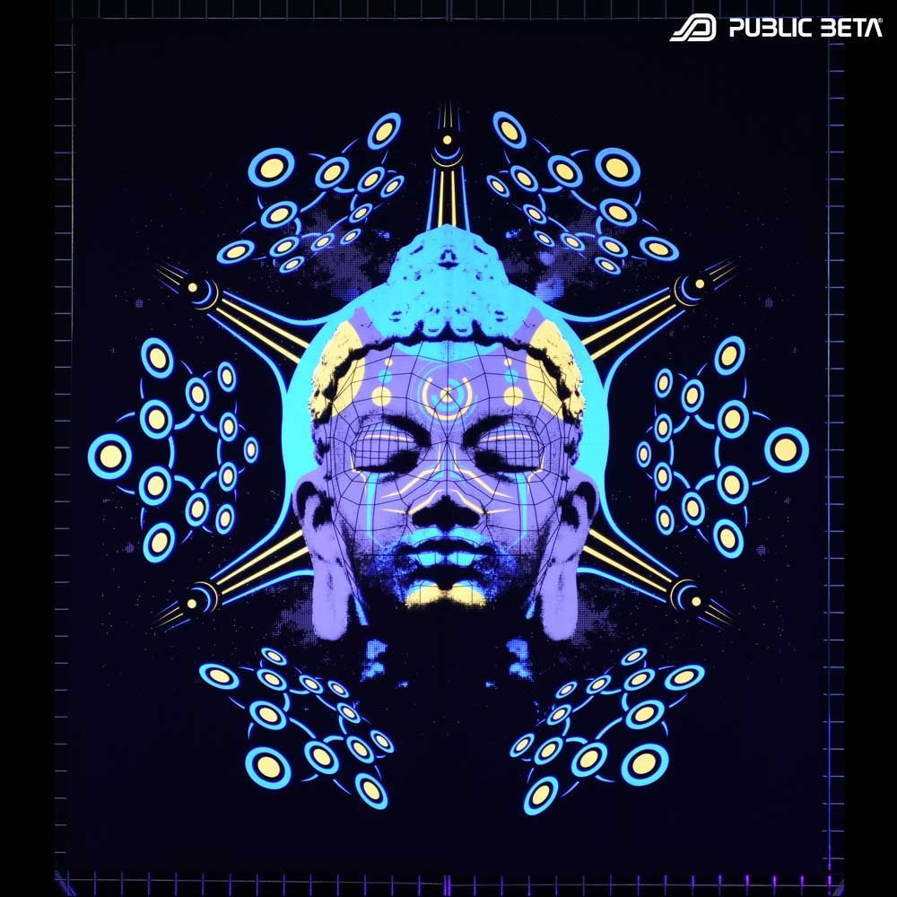 Blacklight Art Wallhanging / Quantumkarma D57 UV