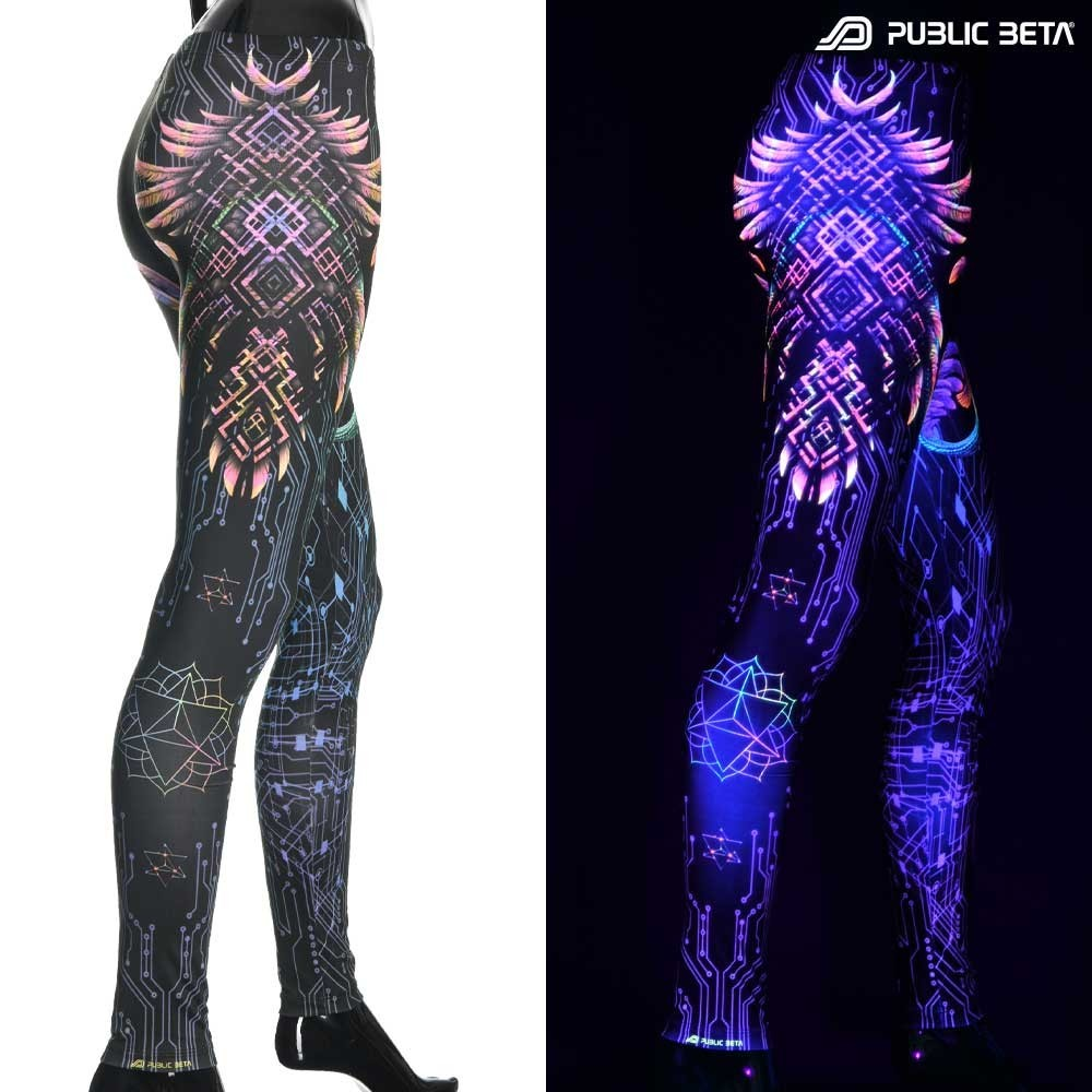 Psychedelic Glow in Blacklight Leggings /Supernatural UV D136
