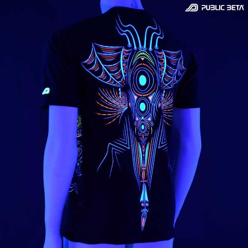 Psychedelic UV Active T-shirt / Cyberdala Uv D108