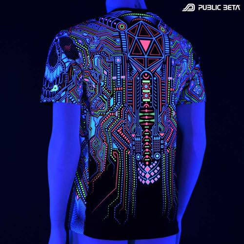 Psychedelic UV Active T-shirt / Full Print / BOT UV D121