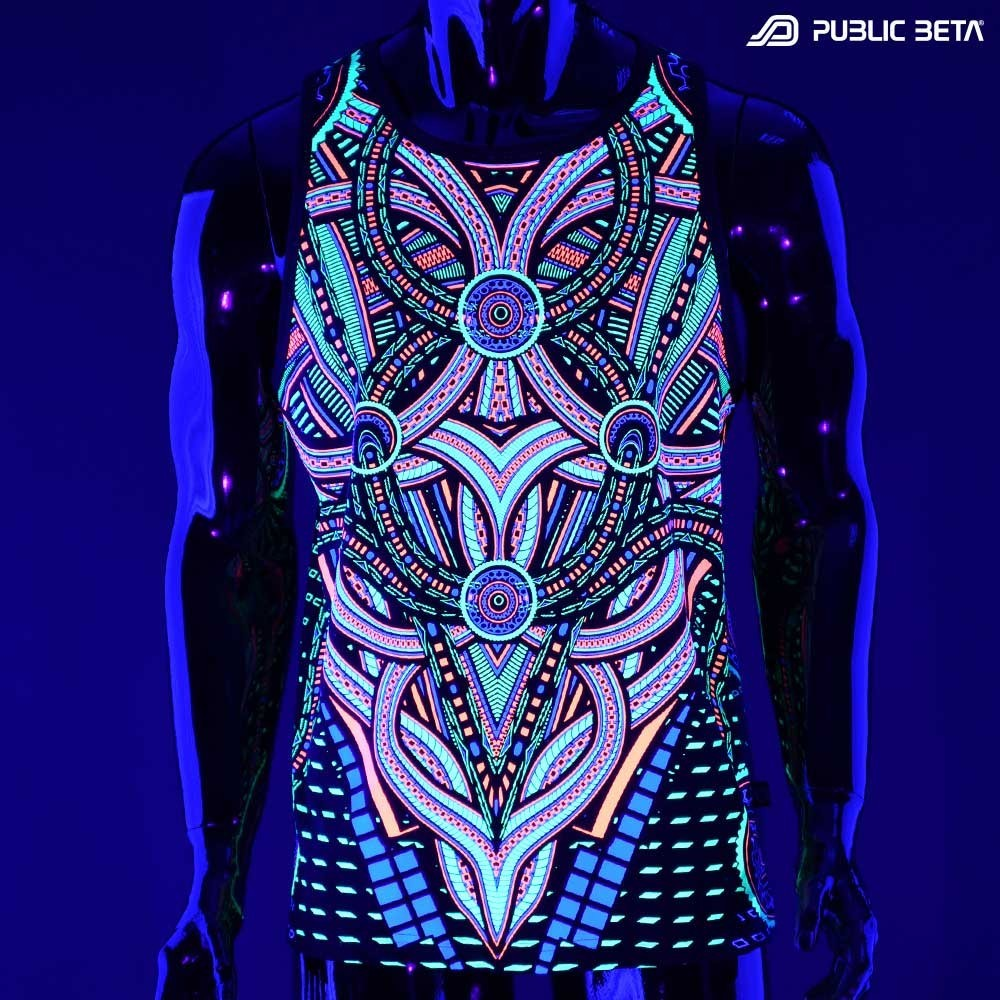 Perplexed UV D101 Sleeveless Shirt / UV Active Psychedelic Print