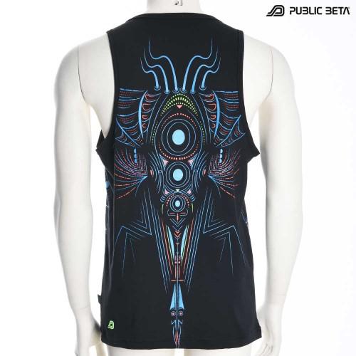Cyberdala Psywear, Psyfashion, Blacklight Sleeveless Shirt