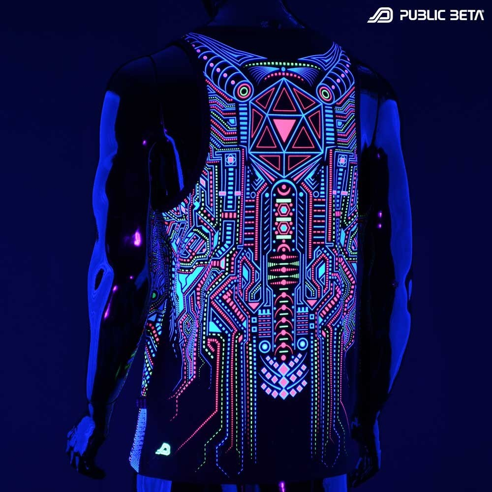 BOT UV D121 Sleeveless Shirt / UV Active Art Print
