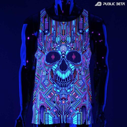 Glow in Blacklight Psytrance Wear
