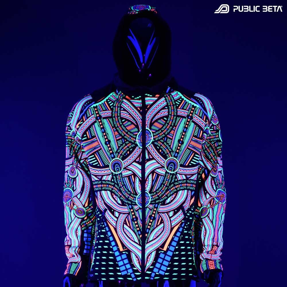 Perplexed UV D101 Hooded Sweater / Blacklight Psywear