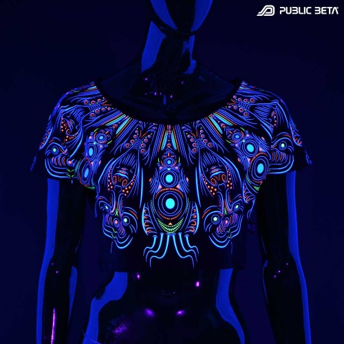 Glow in Blacklight Top. Public Beta Wear