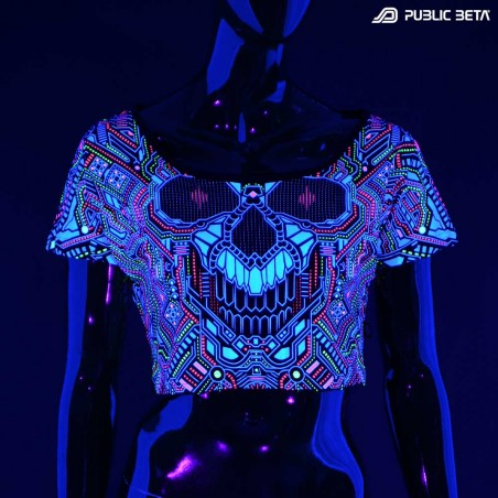 Glow in Blacklight Printed Top. Public Beta Wear
