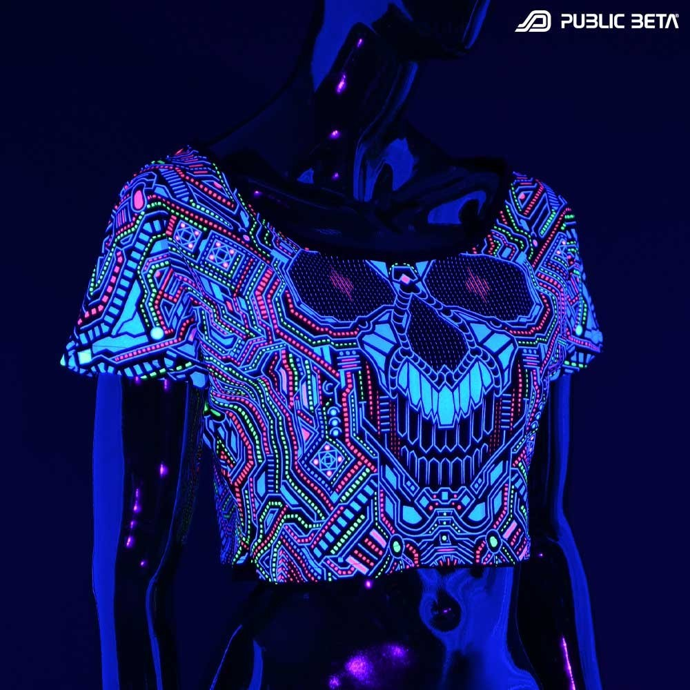 BOT 121UV Reactive Crop Top Cotton