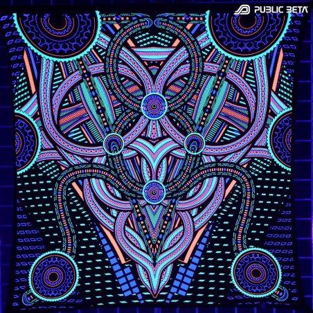 Blacklight Active Psychedelic Art Print. Public Beta Wear