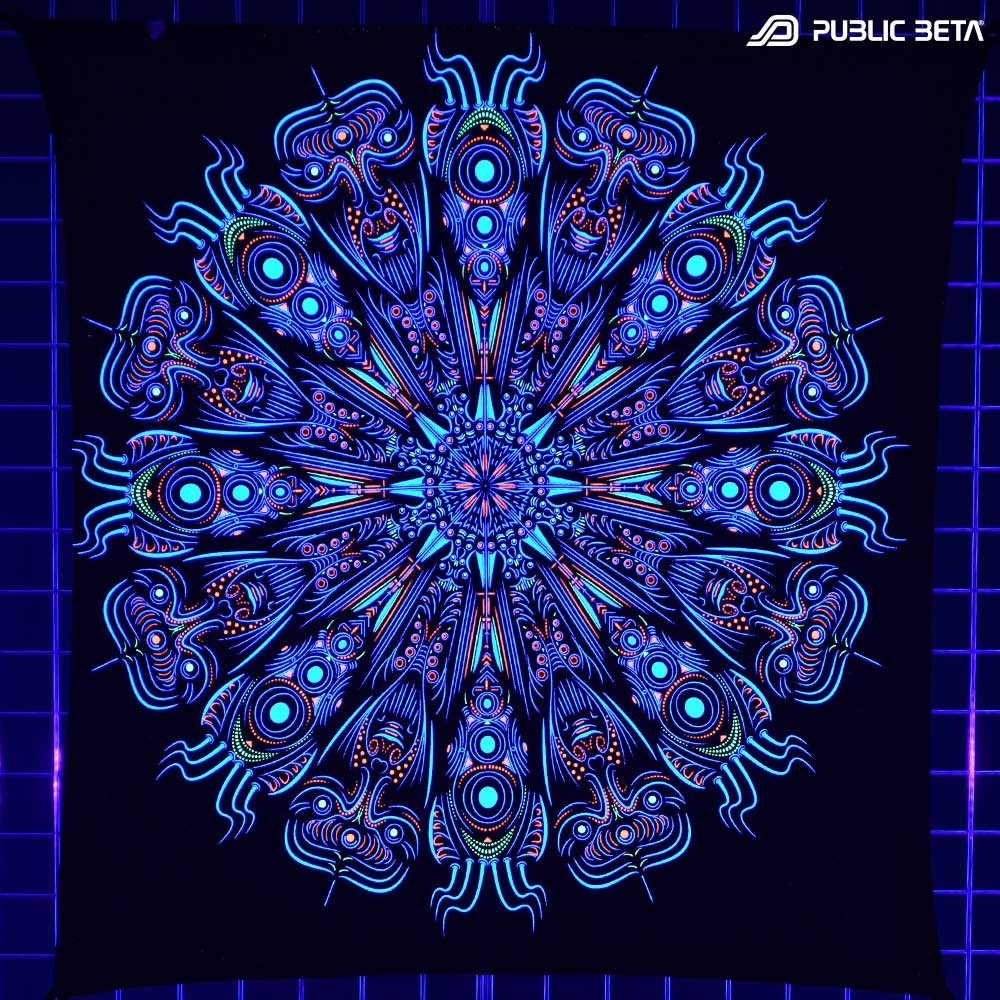 Blacklight Active Psychedelic Art Print
