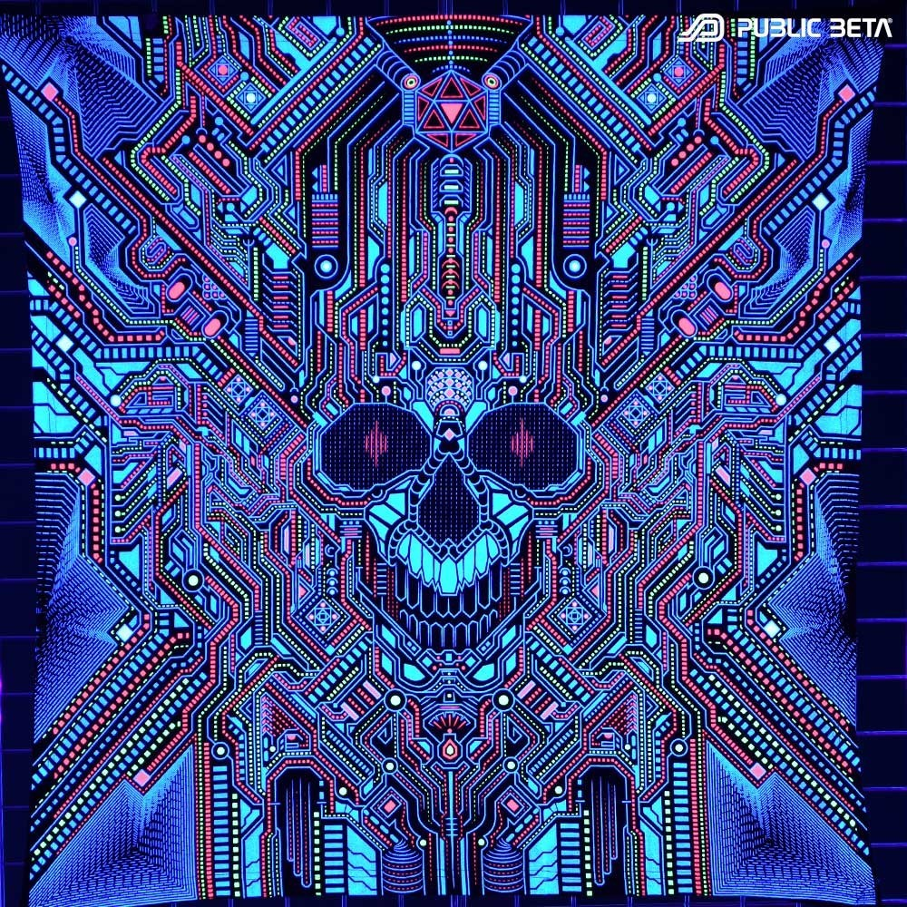 Psychedelic UV Art Print. Public Beta Wear
