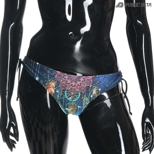 Psychedelic Art Printed Bikini. PublicBeta Wear