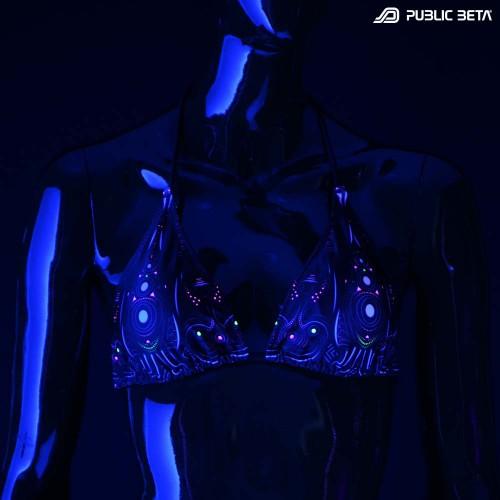 Cyberdala UV D108 Bikini Set / Psychedelic Patterns / Swimwear
