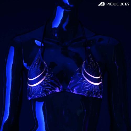 Digital Shiva UV D114 Bikini Set /Psychedelic Festival Wear