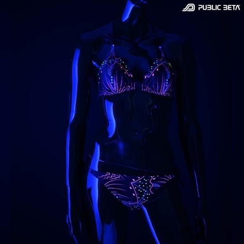 Meruvian UV D82 Bikini Set / Psychedelic Patterns / Swimwear