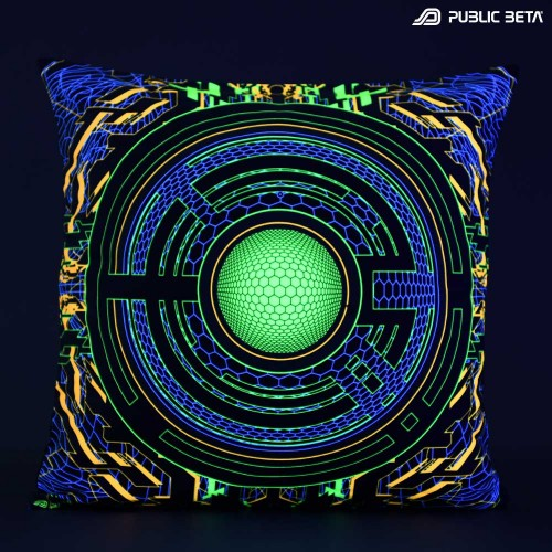 Trancemitter D48 Glow in Blacklight Pillow Cover