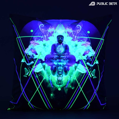 Source D59 Glow in Blacklight Pillow Cover / Psydeco