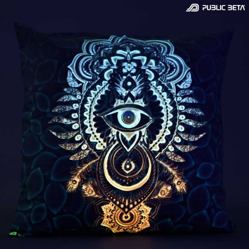 CivilEye D129 Glow in Blacklight Pillow Cover / Psydeco