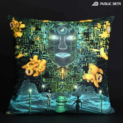 Innerverse D138 Glow in Blacklight Pillow Cover