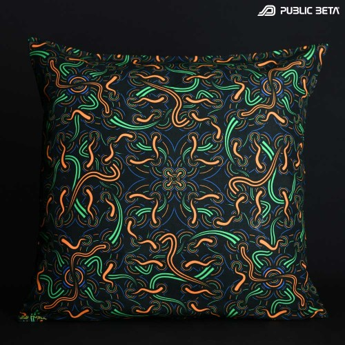 Neural Connect UV D139 Glow in Blacklight Pillow Cover / Psydeco