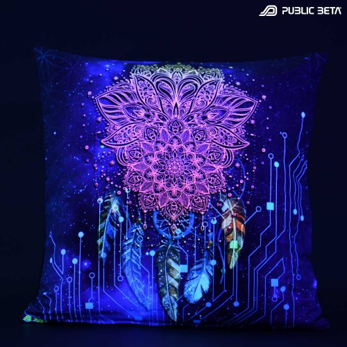 Glow D130 Glow in Blacklight Pillow Cover / Psydeco