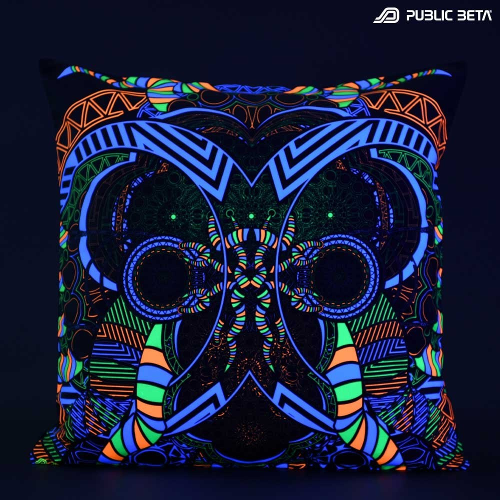 Spirit D51 Glow in Blacklight Pillow Cover / Psydeco