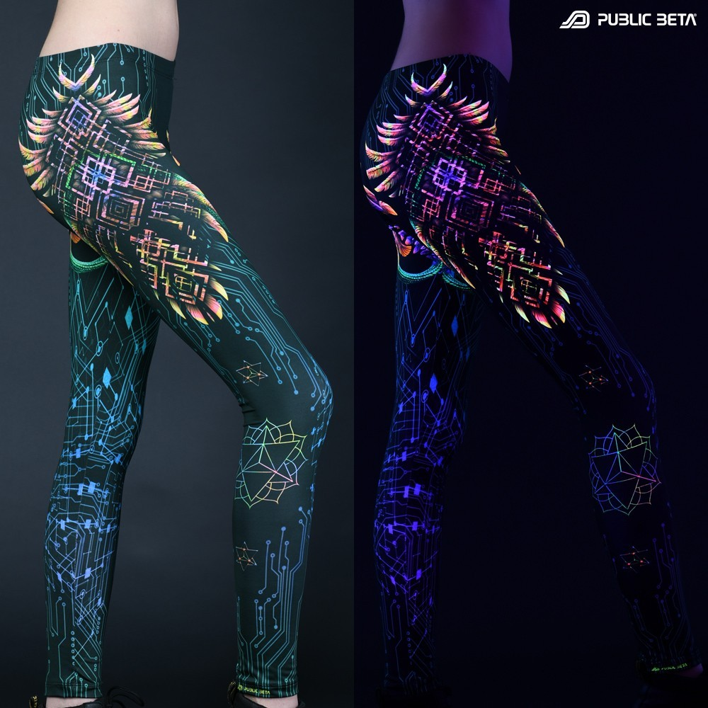 Psychedelic Glow in Blacklight Leggings /Supernatural UV D136