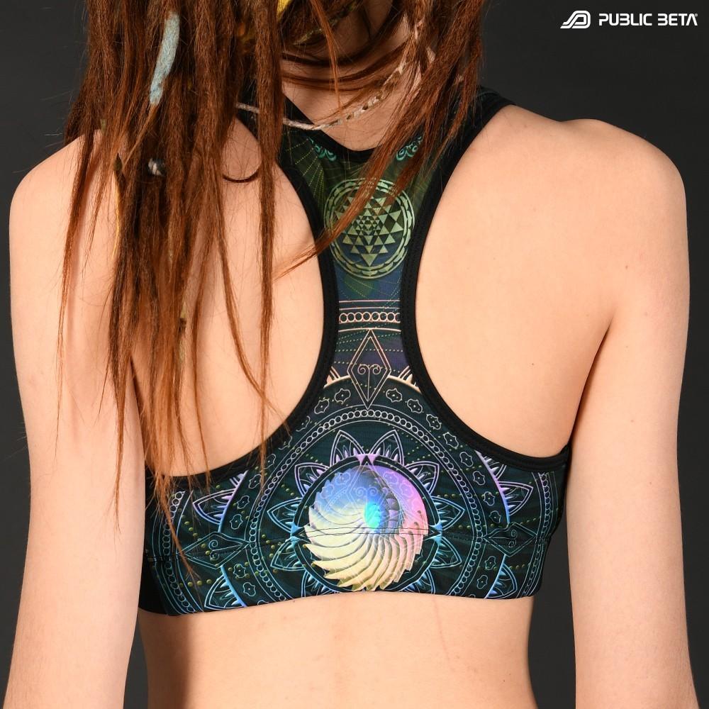 Singular D131 UV Active Top / Psychedelic Yoga Wear