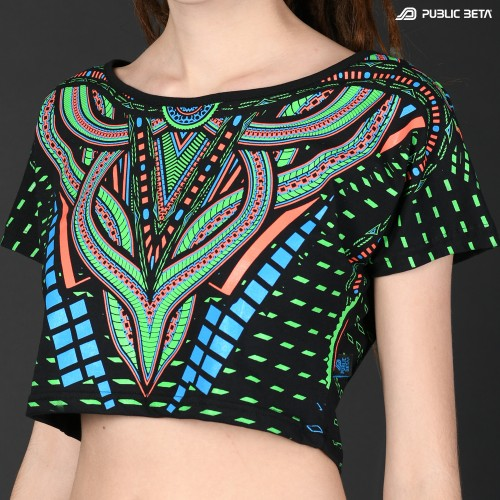 Perplexed D101UV Reactive Crop Top Cotton