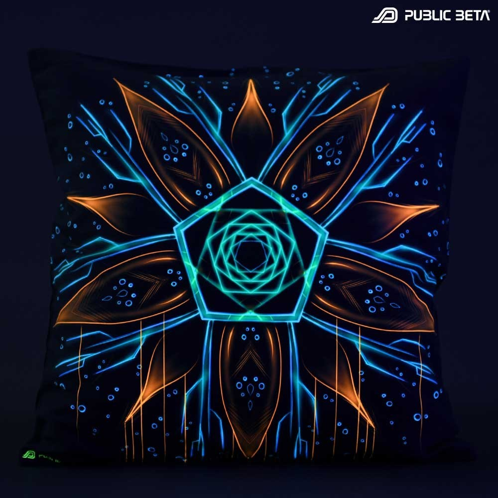 Multiverse D111 Glow in Blacklight Pillow Cover