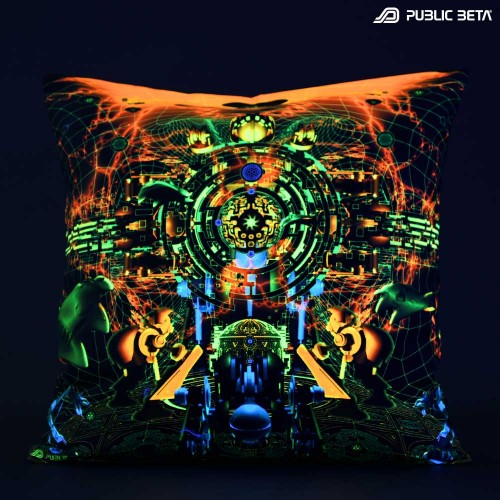Blacklight Cushion Cover / Zion UV D123