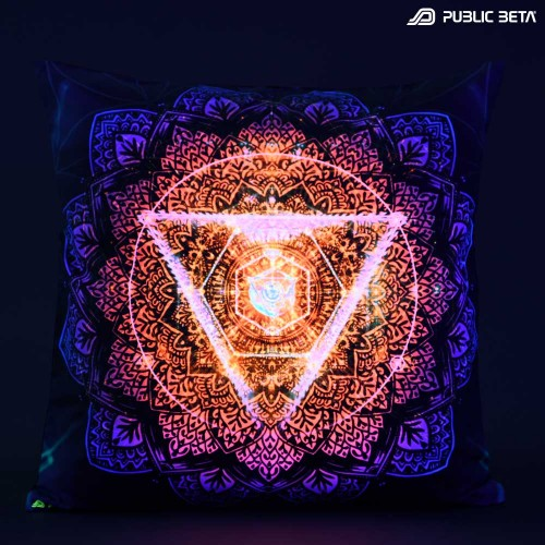 TechnoLog UV D128 Blacklight Pillow Cover / Psydeco